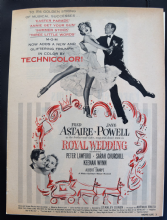 Royal Wedding (1951) - Fred Astaire | Vintage Trade Ad